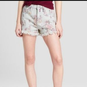 NWT Mossimo High-Rise Floral Short Shorts